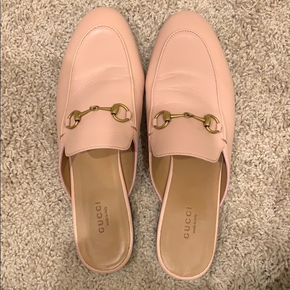 28af9a79faa Gucci Shoes - Gucci Princetown Leather Mule Pink Size 39